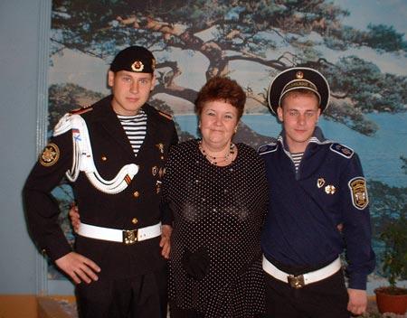 Шакина Валентина Федоровна со своими выпускниками